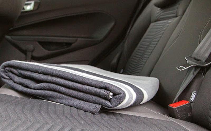 blanket in car