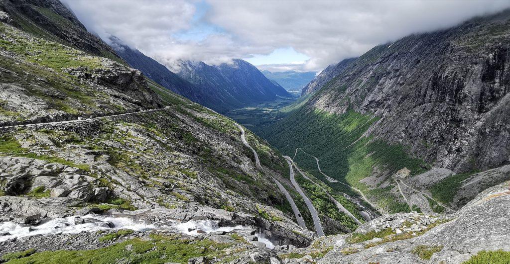 Epic views along the Trollstigen in Norway